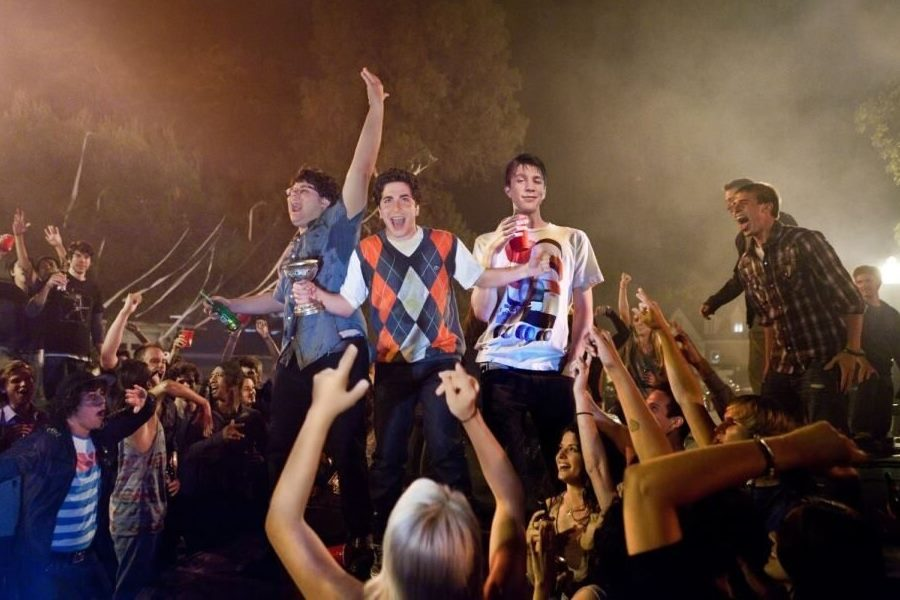 """(L-r) JONATHAN DANIEL BROWN as JB, OLIVER COOPER as Costa, and THOMAS MANN as Thomas in Warner Bros. Pictures' comedy """"PROJECT X,"""" a Warner Bros. Pictures release."""